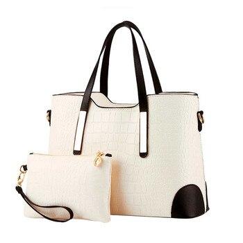 Women Bag Vintage Messenger Bags Shoulder Handbag Women Top-Handle Crocodile Pattern Composite Bag Purse Wallet Leather #YL5 shoulder bag