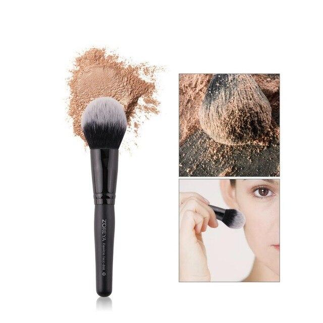 Maquillaje cepillo de ojos herramienta de fibra hecha a mano cabello ceja biselado ángulo cepillo uso para cejas sombra de ojos labio Q1
