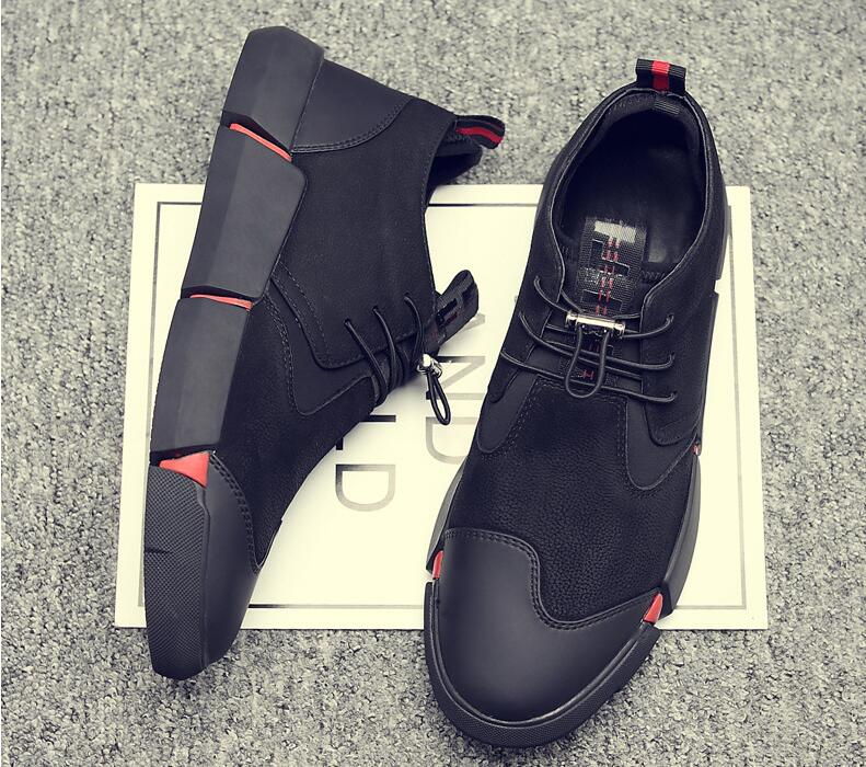 HTB1HtsFB5OYBuNjSsD4q6zSkFXaM Brand High quality all Black Men's leather casual shoes Fashion Sneakers winter keep warm with fur flats big size 45 46 LG-11