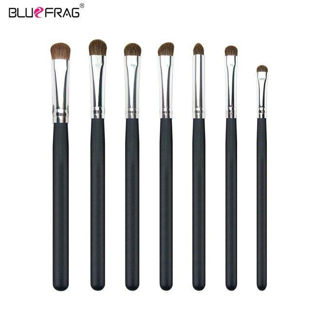 BLUEFRAG 7pcs Eye Makeup Brushes Set Professional Eyeshadow Shadow Brushes Makeup Tool Blending Pencil Kit Make Up Brushes Set