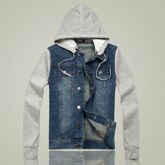 Jeansjacke mit gestrickten armeln