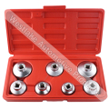 7PCS Oil Filter Cap Socket Wrench Tool Set For Benz BMW FORD 24mm 27mm 29mm 30mm 32mm 36mm 38mm