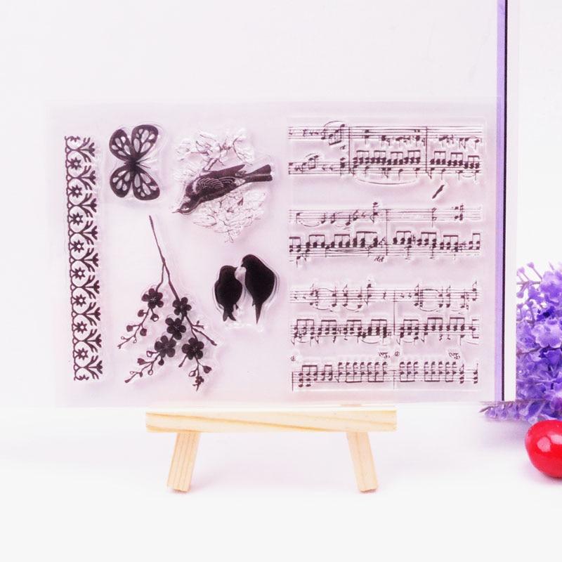 DECORA 1PCS Butterfly Banner Design Silicone Transparent Clear Stamp DIY Scrapbooking Christmas Decoration Supplies аксессуары sonance vc60s decora white