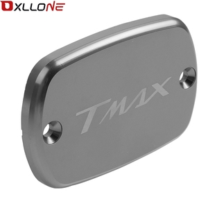 Image 3 - Motorcycle Accessories Aluminum Brake Fluid Fuel Reservoir Tank Cap Cover For Yamaha Tmax530 2012 2013 2014 2015 2016 with logo