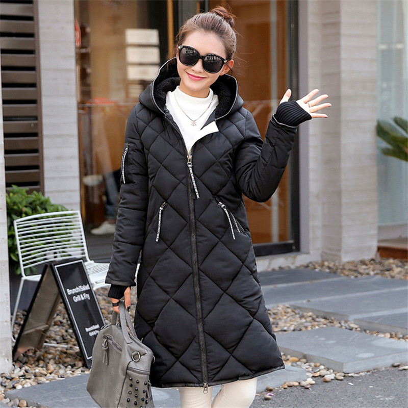 2017 new Fashion Winter Women Long Section of the Korean version of Slim Mianfu hooded wild Female Coat CC205 free shipping 2016 autumn and winter explosion models men korean version of slim long warm hooded coat