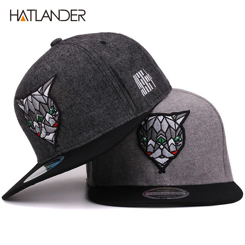 Hatlander 3D Devil Eyes Baseball Caps Retro Gorras Hats Planas Chapeau Flat Bill Hip Hop Snapbacks Caps For Men Women Unisex