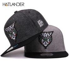 Hatlander 3D los ojos del diablo Gorras de béisbol Retro Gorras sombreros  Planas Chapeau de Hip Hop Gorras Snapbacks para hombre. 30f84672a4c8