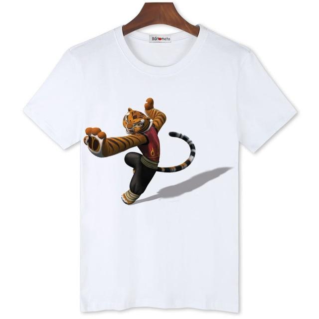 375c39b3bb19 BGtomato Kung Fu Tiger 3D cartoon t shirt men new arrival playing fashion  tiger shirt Good quality comfortable brand t shirts