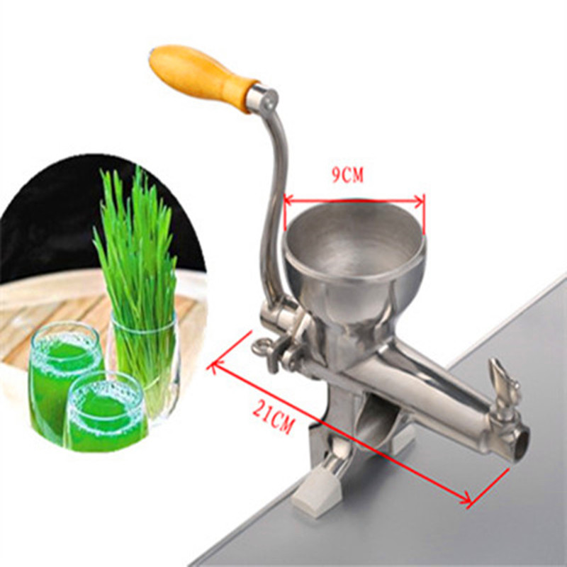 Wheat grass juice extractor juicer manual stainless steel 109 wheat