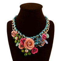 2018 Big Maxi Statement Necklaces For Women Flowers Collar Chokers Necklace Femme Luxury Bijoux Jewellry Wedding
