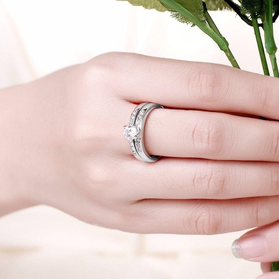 Romantic punk vintage rose gold color wedding couple Rings sets ...