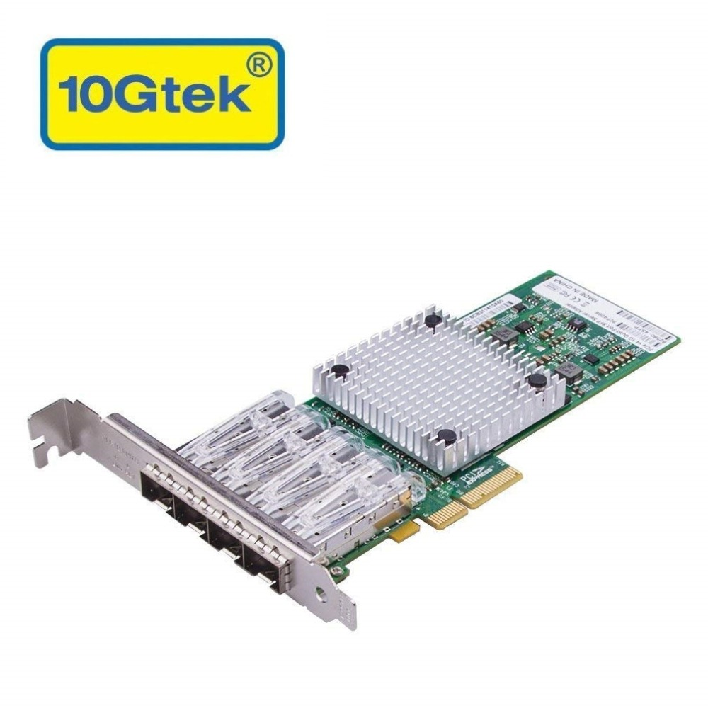 10Gtek for Intel 82580 Chipset 1G Ethernet Server Adapter NIC Quad SFP Port PCIE 2 0