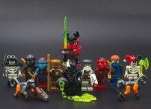 16pcs/lot Classic Ninjagoinglys Figures Building Blocks Toys Zane KOZU Jay Kai Cole Compatible legoinglys For Kids Gift
