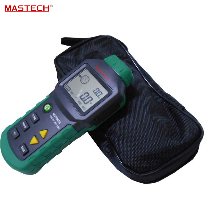 Mastech MS5908 Ture RMS Circuit Analyzer Tester Compared w/ IDEAL Sure Test Socket Tester 61-164CN 110V or 220V mastech ms5908 serial rms circuit analyzer tester compared w ideal sure test socket tester ms5908c eu plug