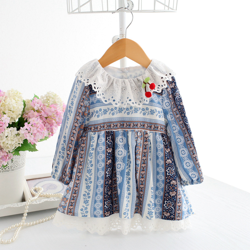 roupas infantis menina 2018 new spring gril dress lovely bohemian baby clothes Floral Lo ...