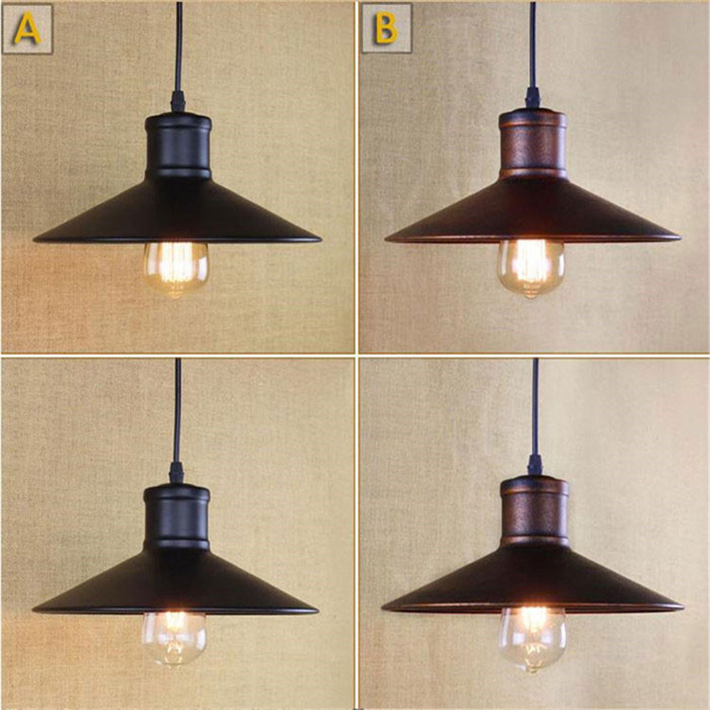 American country living room light restaurant retro cafe bar counter clothing store aisle iron shade pendant lamp hanging light
