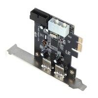 COTS SuperSpeed 2 Port USB 3 0 PCI E PCI Express 19 Pin USB3 0 4