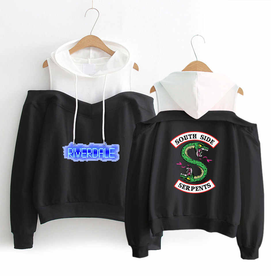 New Fashion Harajuku Kawaii Tops Off Shoulder Clothes Riverdale Hoodie Woman South Side Tracksuit Hip Hop Hooded Streetwear