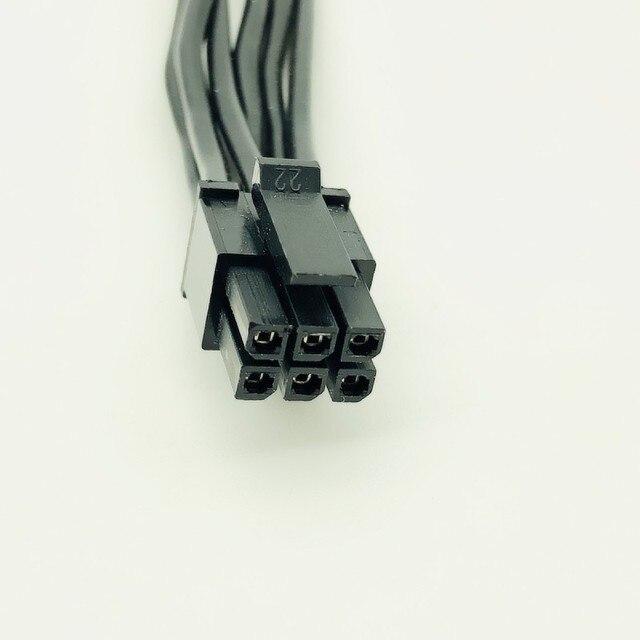 10 sztuk kabel zasilający Mini 6pin do 8pin PCIe PCI-e kabel do Apple Mac iMAC Pro G5 wieża karty wideo 18AWG 35 cm 6 P męski na 8Pin mężczyzna