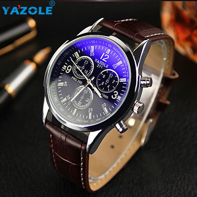 YAZOLE Brand Men's Fashion Casual Sport Watches Men Waterproof Leather Quartz Watch Man military Clock Relogio Masculino #A616 2018 new fashion casual naviforce brand waterproof quartz watch men military leather sports watches man clock relogio masculino