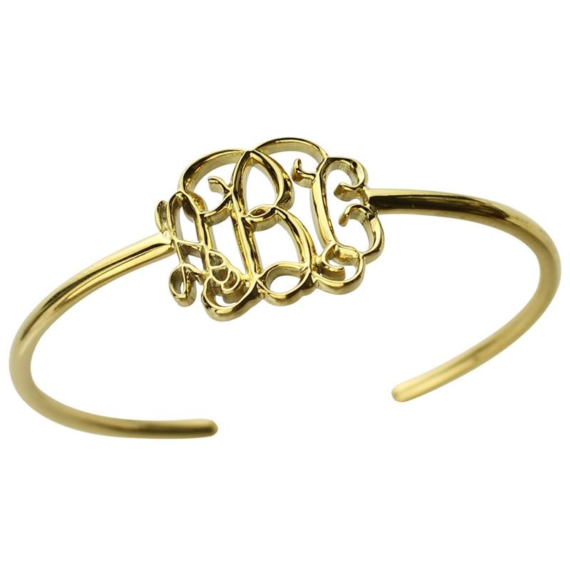 Wholesale 3D Monogram Bracelet Gold Color Personalized 3D Initial Bracelet Name Pendant Bracelet Special 3D Jewelry wholesale infinity name bracelet gold color family bracelet with names custom name bracelet triple infinity sign mother jewelry