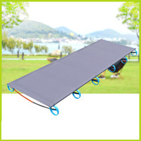 031425 Outdoor Lightweight Aluminum Single Bed Camp Bed Camping Portable Folding Office Nap Bed Load 100kg
