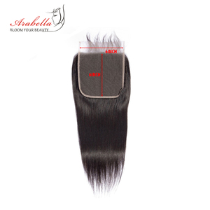 Image 4 - 6*6 Lace Closure Brazilian Straight Closure Natural Color Arabella Remy Hair Pre Plucked Bleached Knots Closure With Baby Hair