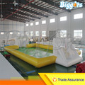 Sea Shipping Giant Commercial Inflatable Water Football Pitch Soccer Soap Field For Sale