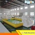 Transporte Marítimo de Gigante Inflable Del Agua Comercial Jabón Campo de Fútbol Campo de Fútbol Para La Venta