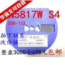 Freeshippng      1N5817W B5817W S4 silkscreen SOD-123 цена