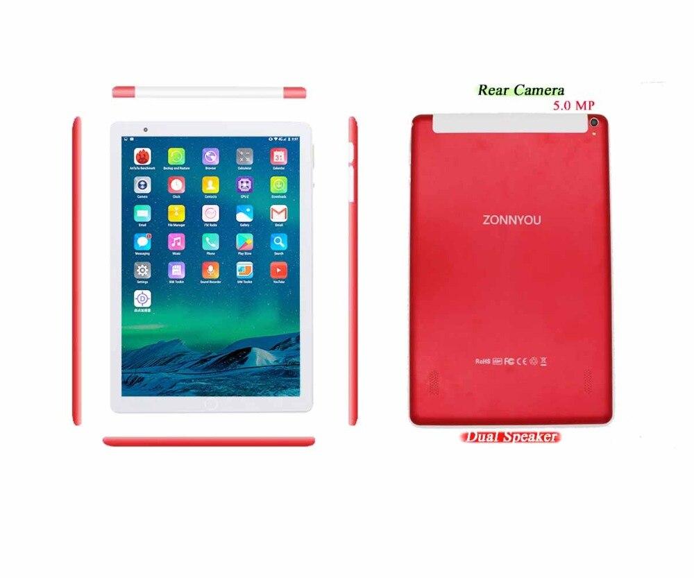 5ddf78f1710 Acheter 10.1 pouces Tablet PC 3G Appel Téléphonique 4 GB 32 GO Android 7.0  Octa base 1.5 GHz Double SIM Soutien GPS OTG WiFi Bluetooth (Or) PC 10.9 Pas  Cher ...