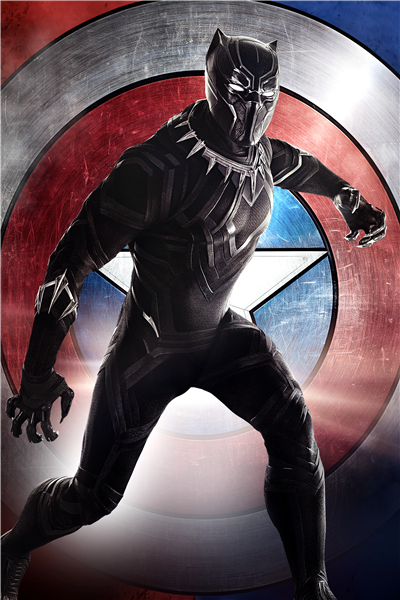 Popular black panther poster buy cheap black panther for Black panther mural