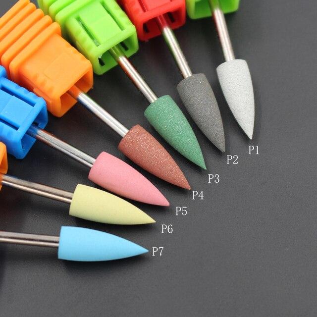 ASWEINA 1Pcs Cuspidal Head 7 Colors Rubber&Silicon Carbide Nail ...