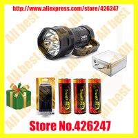 TrustFire TR S700 7 x Cree XM L T6 1 Mode 5000lm Cool White Portable Flashlight Black (3 x 26650)