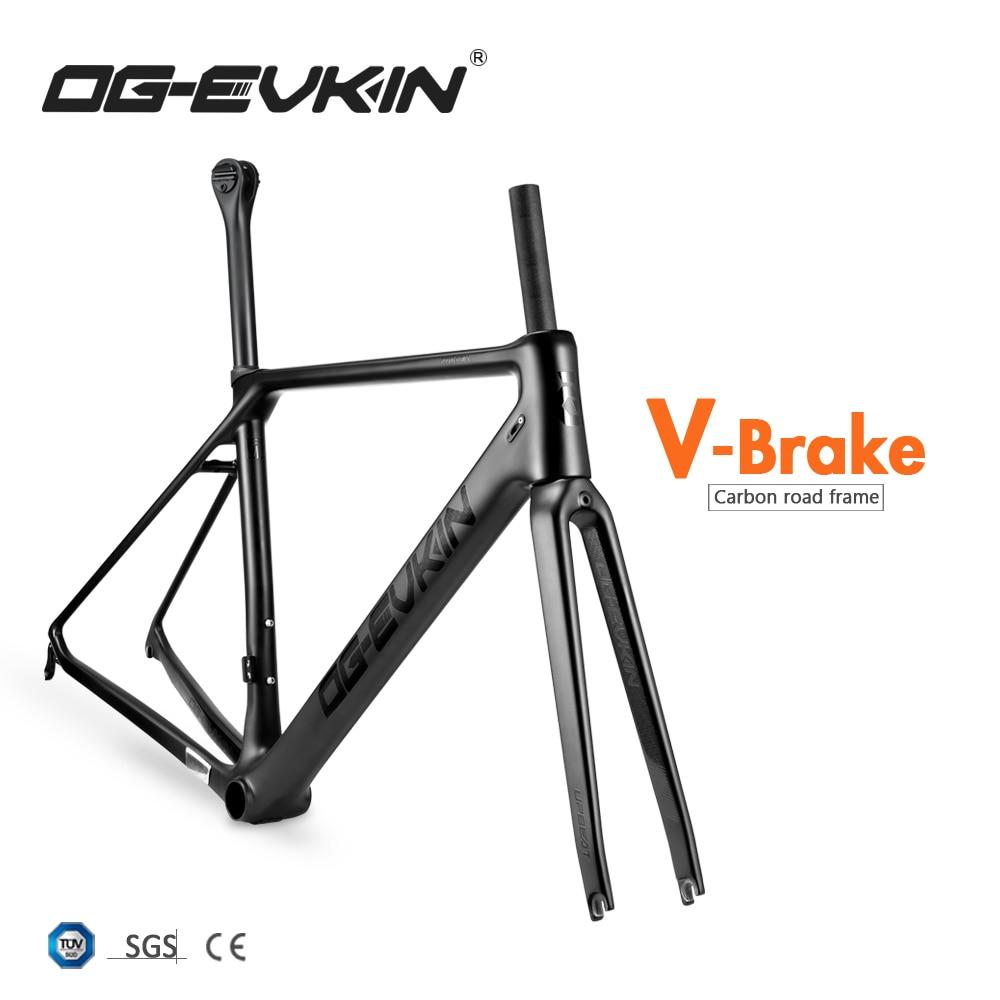2019 Carbon Road Frame UD Matt BB86 V Brake Frame Road Carbon Bicycle Frameset 1-1/8