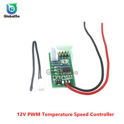 DC 12V PWM Temperature Controller Fan Speed Governor Automatic Temp PWM Speed Controller Switch Temperature Control Governor