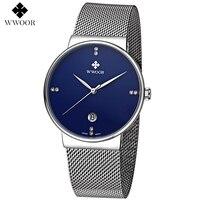 Nueva lista de Los Hombres Marca de relojes de Lujo Relojes de Moda Reloj de Cuarzo Reloj masculino de la correa De Malla De Acero Inoxidable Se Divierte el Reloj del relogio