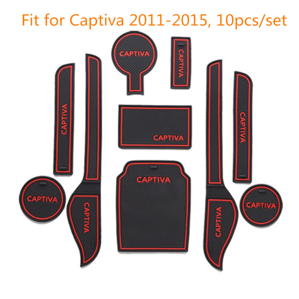 Car Non Slip Interior Car Door Groove Mat Cup Pad Stickers Covers For font b Chevrolet