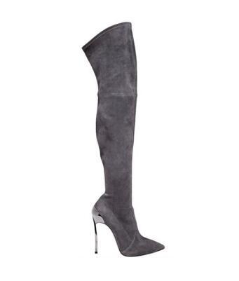 Femme hiver bout pointu pointe haut talon sur genou bottes femmes bottes sexy femme haut talon cuisse haute stretch bottes longues taille 43