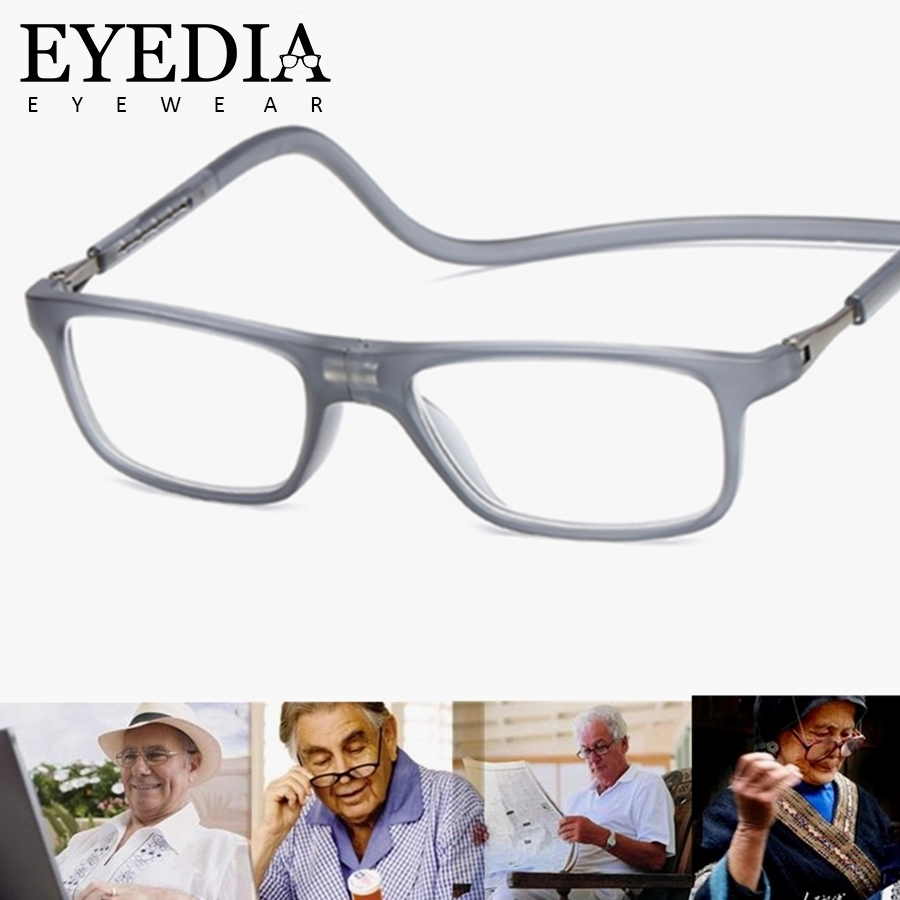 Women's Reading Glasses Apparel Accessories New Plastic Titanium Magnetic Optical Reading Glasses Flexible Leg Adjustable Hanging Neck Folding Glasses Front Connect Glasses With The Most Up-To-Date Equipment And Techniques