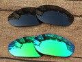 Черный и Изумрудно-Зеленый 2 Пар Поляризованных Сменные Линзы Для Монстр Собак Солнцезащитные Очки Рама 100% UVA и UVB Защиты