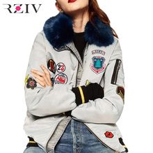 2016 autumn and winter women casual solid color decorative labeling loose cotton jacket