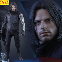 Avengers 3 Winter Soldier Statue Bucky Barnes Superhero Captain America Anime PVC Action Figure Collectible Model Toy L2219