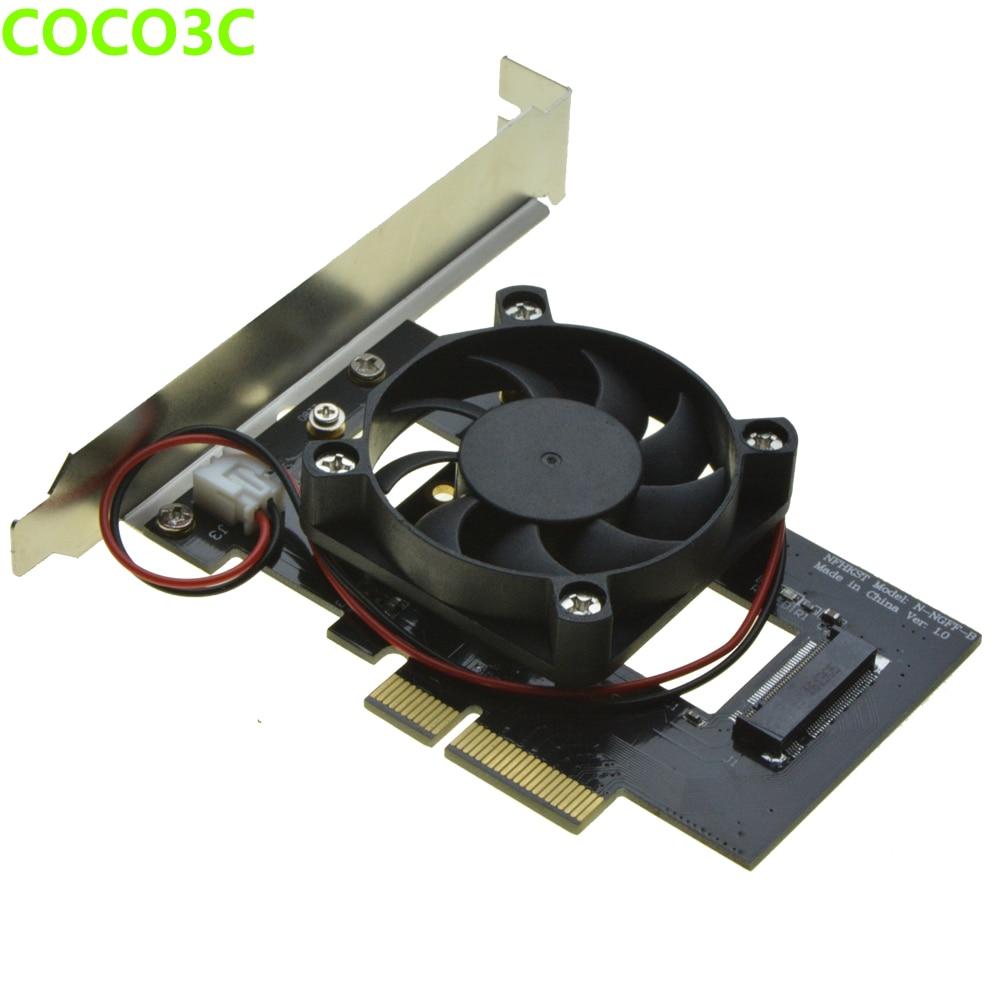 PCI-e 4x na M klíč NGFF SSD adaptér pro SAMSUNG 950 PRO XP941 PM951 M.2 PCIe 3.0 SSD stolní Ultra Speed Speed Predator fan coil kit