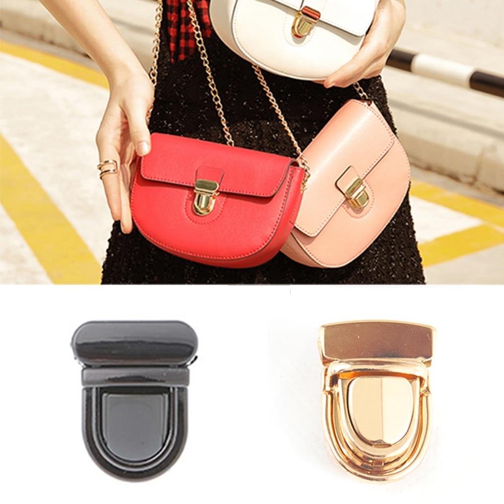 1PC Bags Lock Durable Buckle Twist Hardware Shape Handbag DIY Metal Turn Bag Clasp Gold Black Accessories Hot