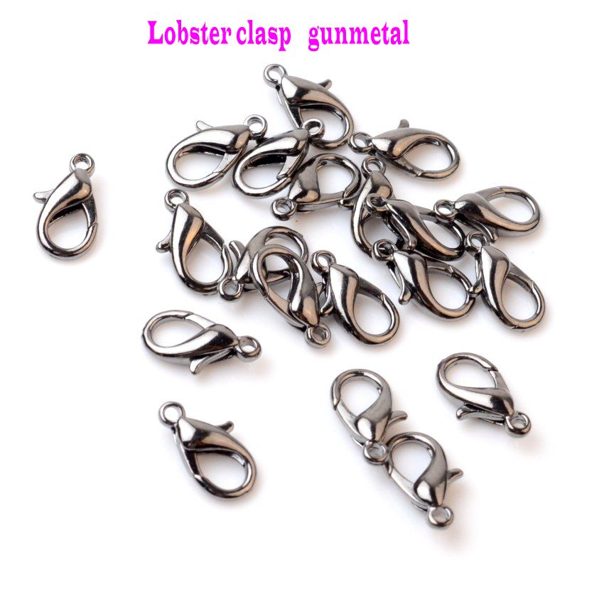 30pcs silver toned lobster clasp nickle free size 12x6mm