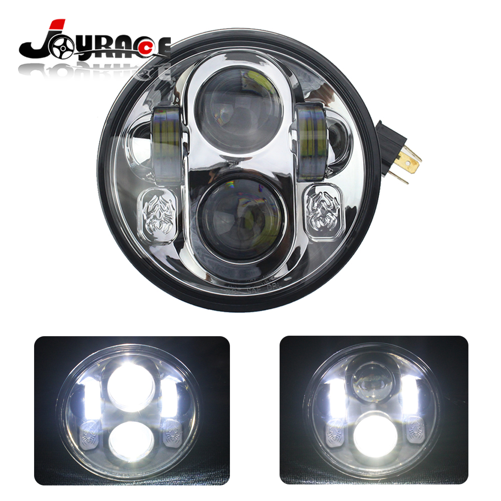 50W 5.75 High Low Beam LED Projector Headlight Motorcyle for Jeep Wrangler SUV ATV Harley Davidson