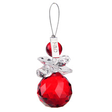 2PCS lot Red 30mm Lighting Ball Glass Crystal Chandelier Part Prism Hanging Drop Pendants Suncatcher Christmas