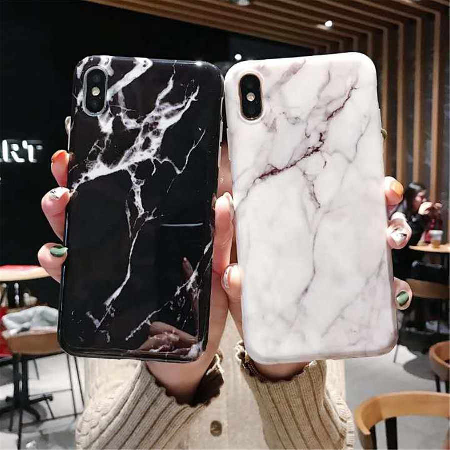 Luxe Marmer Telefoon Case Voor iPhone XS MAX XR Case Voor iPhone X 7 6 6 S 8 Plus Case marmer Cover 8 Plus 7 Plus 6 sPlus Coque Fundas