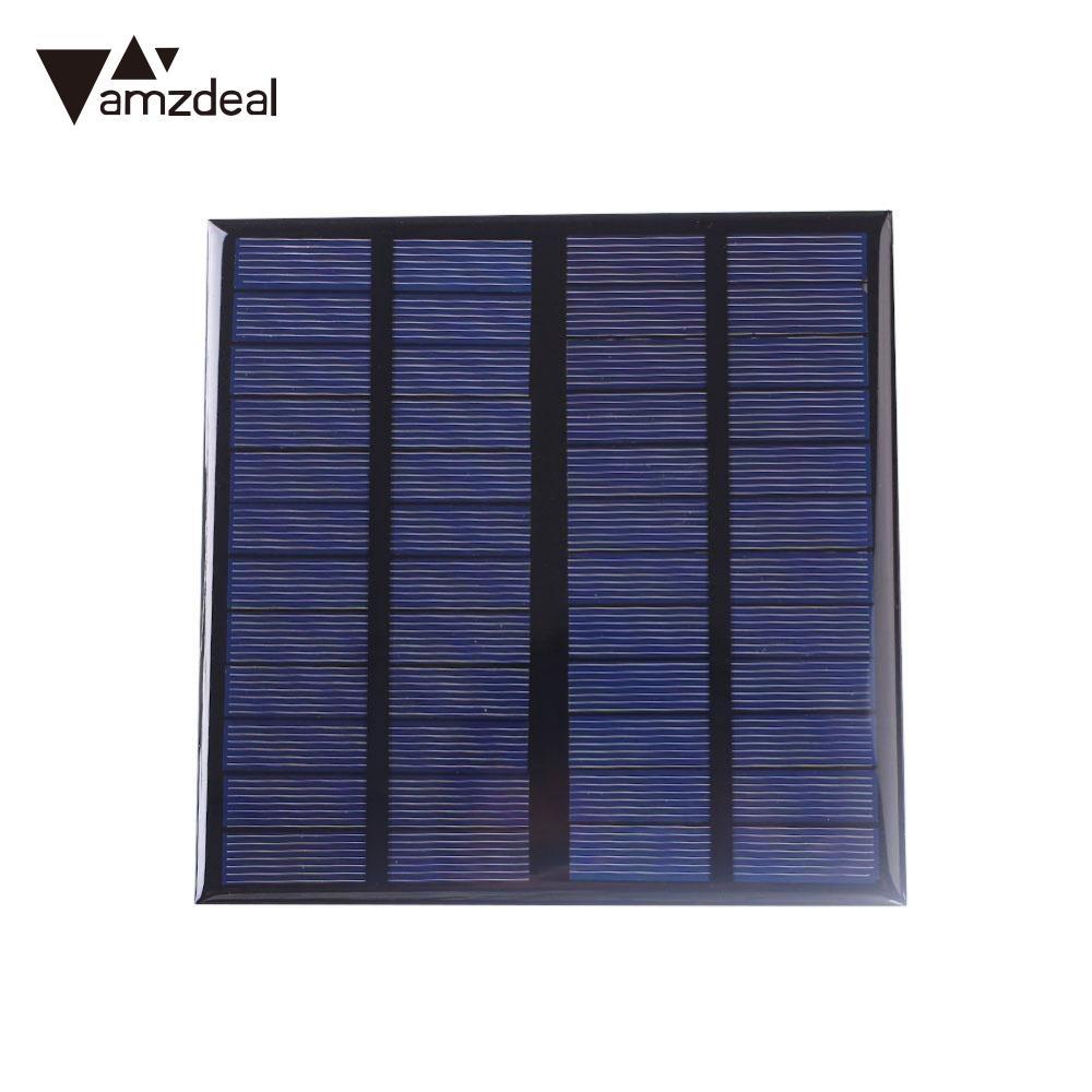 Amzdeal 3 Watt 12 V Polysilizium Solar Panel Power Tragbare DIY Sunpower Zelle Ladegerät Modul Outdoor-Camping Hohe Qualität